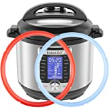 Silicone Sealing Ring for Instant Pot Sealing Ring for 6 / 5Qt, Savory Sky Blue & Sweet Cherry Red Sweet and Savory, Food-Gra