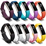 AWINNER Bands for Fitbit Alta,Silicone Replacement Band for Fitbit Alta HR and Alta Band With Metal Clasp (10-Pack)