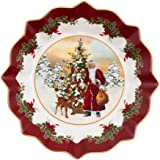 Villeroy & Boch Toys Fantasy Santa with Christmas Tree on Foot, Premium Porcelain, White, 24 x 24 x 12 cm