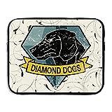 ZMONO レディース ラップトップスリーブ ダイアモンド キュート ドッグス ロゴ ファッション PC用 収納 カバン ビジネスバッグ 防水 通学 ビジネス 13~15インチ