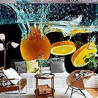 壁紙 3d 壁画 3 d 動的水果物、モダンなベッドルームレストランショップ背景装飾壁画 (W)160x(H)120cm