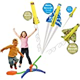 STEM with Fun, Step Powered Stomp Rockets- Stunt Planes and Launcher with 4 Amazing Planes, Great Birthday Gifts for Boys & G