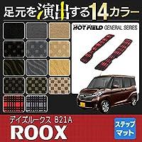Hotfield 日産 デイズルークス リア用サイドステップマット DAYZ ROOX/チェックブラック