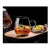 Ultra Clear Glass Tea Mug | Coffee Mug by Sun's Tea | 16 oz (470 ml) | Borosilicate - Glasses w Big Handle | Simple and Elega