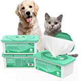 PupMate Pet Wipes for Dogs & Cats, Extra Moist & Thick Grooming Puppy Wipes with 100 Deodorizing and Hypoallergenic Fresh Cou
