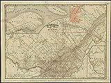 Historicマップ| 1895Rand McNally & Co。'Sのインデックス付きAtlas The World Map of Quebec |アンティークヴィンテージReproductio..