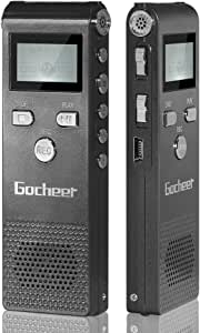 ゴシェール(Gocheer)ボイスレコーダー 小型 高音質 ICレコーダー 8GB 長時間録音機 USB充電 MP3プレーヤー 【二年間メンテナンス保証】