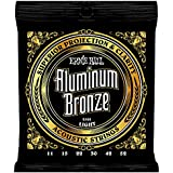 Ernie Ball P02568 Light Aluminum Bronze Acoustic Guitar Strings, 11-52 Gauge, Light