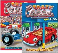 ジャンボCrazy Carzzzカラーリング&アクティビティBooks