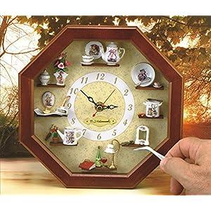 【ロイターポーセリン】【ミニチュア】 壁掛け時計 フンメル RP24668-0