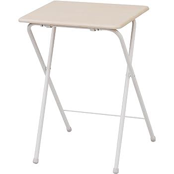 山善(YAMAZEN) 折りたたみテーブル(高さ90cm) ナチュラルメイプル/アイボリー YST-5040H(90)(NM/IV)