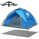 Night Cat Waterproof Camping Tent for 1 2 3 4 Person with Footprint Tarp Easy Instant Pop Up Tent Automatic Hydraulic Rainpro
