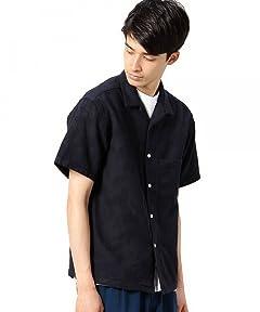 Jacquard Camp Shirt 1216-149-2106: Navy