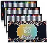 SUDEE STILE 色鉛筆 24~120色セット 彩り 塗り絵 スケッチ用 アート鉛筆 プレゼント用 筒入り 120色セット