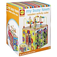 ALEX Discover My Busy Town Wooden Activity Cube [並行輸入品]