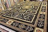 カーペット 最高級クラシック柄75万ノット ベルギー製絨毯 約6畳(240×340cm) シェラサド/ブラック