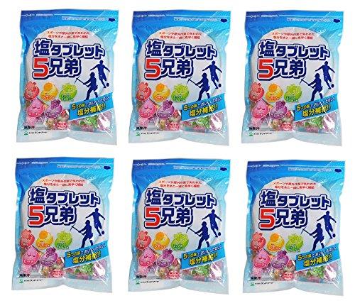 【6袋セット】まとめ買い ランドアート 塩タブレット5兄弟 (530g袋入 x 6袋セット・約1188粒)