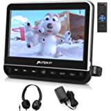 PUMPKIN 10.1 Inch Headrest Car DVD Player with Free Headphone, Support 1080P Video, HDMI Input, AV in Out, Region Free, USB S