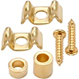 Musiclily Flat Wavy Vintage Style Guitar String Tree Guides Retainer for Fender Strat Tele Replacement, Gold (Pack of 4)