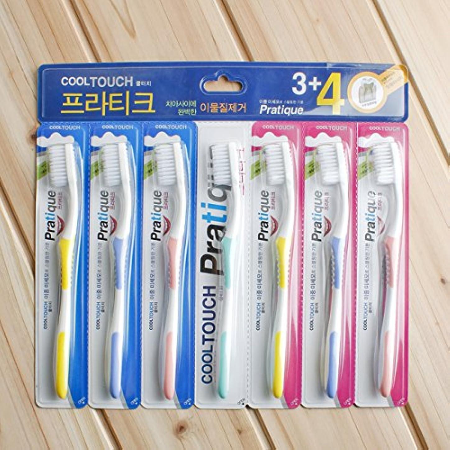 受付ほとんどない黒人VBMDoM 7個のクールタッチデュアルファイン歯ブラシ x 3 [並行輸入品]