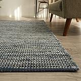 洗える 平織り デニムラグ ラグマット 「 デニム 」 約 130x190 cm ブルー 約 1.5畳 ホットカーペット対応