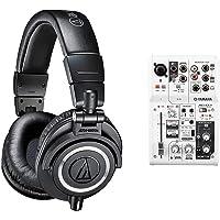 audio-technica プロフェッショナルモニターヘッドホン ATH-M50x ブラック & ヤマハ YAMAHA…