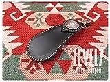 【日本製/MADE IN JAPAN】靴ベラ 本革キーホルダー 携帯用 シューホーン ブラック ヌメ革レザー ハンドメイド LEVEL7/レベルセブン