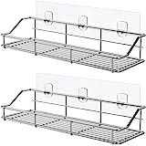ODesign Adhesive Bathroom Shelf Organizer Shower Caddy Kitchen Storage Rack Wall Mounted No Drilling SUS304 Stainless Steel -