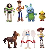 Set of 7 Mini Toy Story Figurines for Birthday Cake Topping Cute Set of Cake Topper Includes Woody, Jessie, Rex, Buzz Lightye