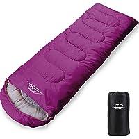LEEPWEI [2020 新世代] 寝袋 封筒型 軽量 保温 210T防水シュラフ コンパクト アウトドア キャンプ…