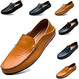 [サニーホリデイ]メンズ 牛革 ドライビングシューズ 軽量 スリッポンシューズ 2種履き方 クラシック 職場用 モカシン 靴
