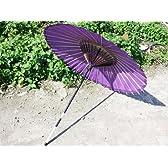 和傘 番傘 紙傘 銀魂神楽コスプレにも 紫
