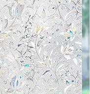 Rabbitgoo 糊なし 3D 静的 イルミネーション装飾 窓フィルム 23.6in. by 78.7in. ブルー GC-008-60