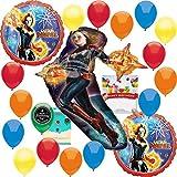 キャプテンマーベルパーティー用品 誕生日バルーンブーケデコレーションバンドル 誕生日カード付き