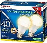 東芝 (TOSHIBA) LED電球 一般電球形 485lm(電球色相当)【2個セット】TOSHIBA E-CORE(イー・コア)広配光タイプ LDA5L-G-K/40W-2P LDA5L-G-K/40W-2P