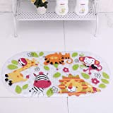 Cartoon Non Slip Bathtub Mat for Kids - 27.5x15 Inch XL Large Size Anti Slip Shower Mats for for Toddlers Children Baby Floor
