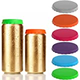 Soda Can Lids 6-Pack, 6 Colors Gooze Silicone Soda Saver Can Lids, Soda/Beverage/Beer Can Lids, Can Covers, Can Caps, Can Top