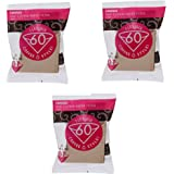 Hario 01 100-Count Coffee Natural Paper Filters%カンマ% 3-Pack Set (Total of 300 Sheets) (Japan import) by Hario