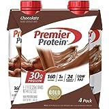 Premier Protein Shake, Chocolate, 30g Protein, 1g Sugar, 24 Vitamins & Minerals, Nutrients to Support Immune Health, 4 Count,