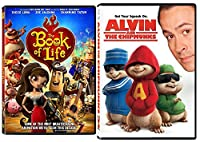 Alvin and the Chipmunks & Book of Life DVD Animated Set