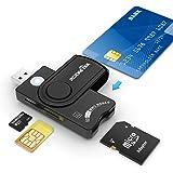 Rocketek USB接触型ICカードリーダー・ライター SDHC/SDXC/SD/SIM/MMC RS&4.0多機能スマートカードリーダー e-Tax(イータックス)での確定申告や住基カード&マイナンバーカード対応(Windows、Linux、M