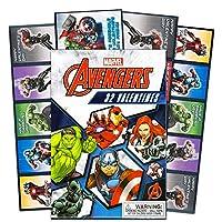 Paper Magic 32カウントMarvel Avengers Kids Classroom Valentine Exchangeカード–Captain America Iron Man Hulk Thorスーパーヒーロー