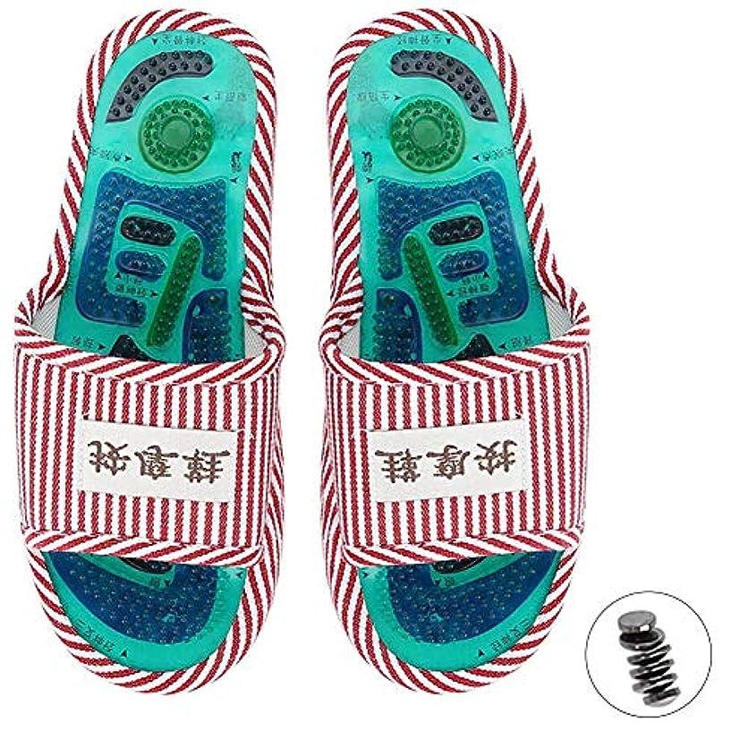これら最適タクトマッサージスリッパ、足指圧マッサージ 磁気ストーン 健康な足のケア マッサージボール 男性女性用(2)