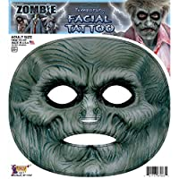 Zombie Facial Tattoo Adult ゾンビ顔のタトゥー大人用♪ハロウィン♪サイズ:One-Size