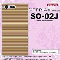 SO02J スマホケース Xperia X Compact SO02J カバー エクスペリア X コンパクト ボーダー 茶 nk-so02j-1289