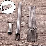 MIDRE バーベキューツール 52点セット 焼き串 串さし器 バーベキュー串 針 BBQフォーク 35cm ステンレス製 耐錆性 ケース付き 持ち運びに便利