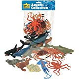 Wild Republic 64128 Aquatic Animals Polybag, Toy Figurines, Gifts for Kids, Party Supplies, Sensory Play, Kids Toys, 11 Piece