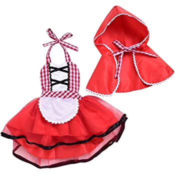 c2863bcacef38 (プタス)Putars ベビー服 子供服 ワンピース チュールドレス 女の子 コスチューム 赤いポンチョ 可愛い 記念