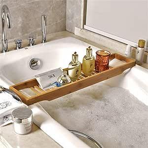 バスタブトレー バスタブラック 竹製 バステーブル お風呂用 バスグッズ 15.5x70cm
