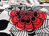 ハーフカットクロス marimekko(マリメッコ) LINTUKOTO(リントゥコト) ブラック 約70cm×50cm